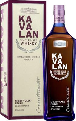 Kavalan Concertmaster Sherry Cask Finish 40%vol